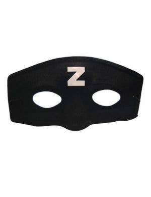 Basic Black Zorro Cheap Costume Mask