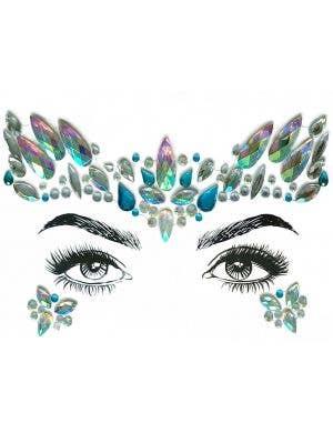 Mermaid Diamond Daze Stick On Festival Face Jewels