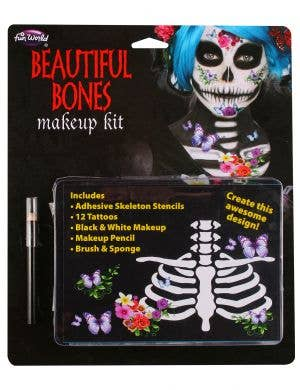Day of the Dead Skeleton Face Paint Set