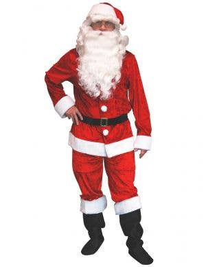 Red Velvet Santa Suit for Men