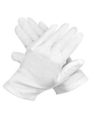 Men's White Santa Costume Gloves