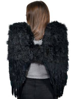 Large Black Deluxe Dark Angel Costume Wings - Main Image