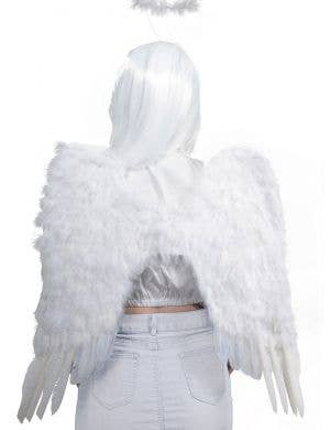 Fluffy White Feather Angel Wings