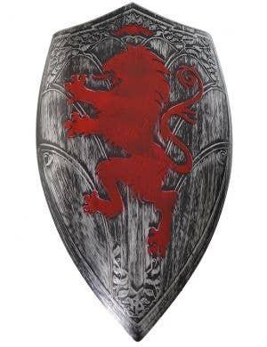 Antique Silver Medieval Shield Costume Accessory