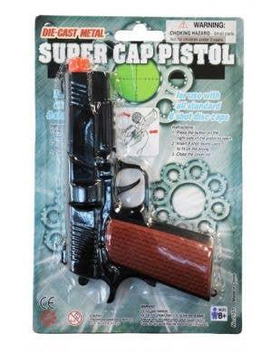 Die Cast Black Metal Pistol Cap Gun
