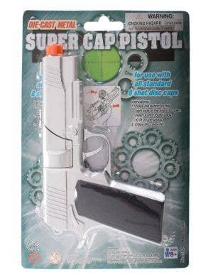 Die Cast Silver Metal Pistol Toy Cap Gun