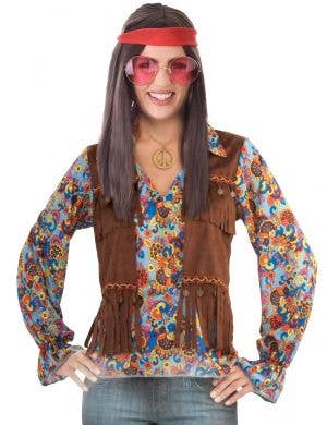 Womens Colourful Groovy Hippie Costume