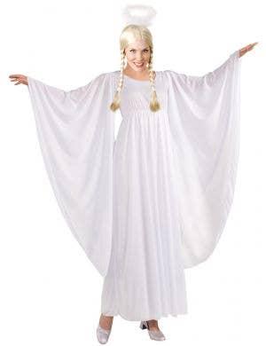 Festive White Christmas Angel Women's Costume