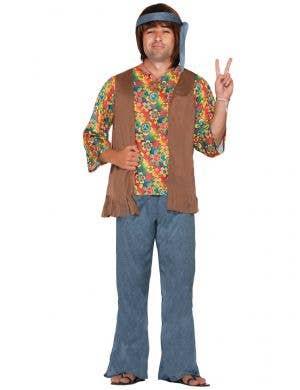 Mens Colourful 70s Hippie Costume