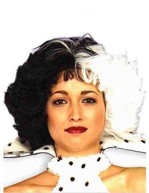 Dog Lovin' Diva Black and White Women's Costume Wig