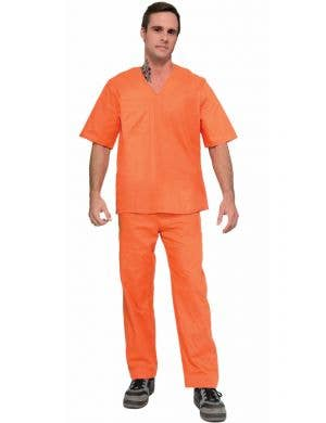 Prisoner Suit Orange Men's Uniform Costume