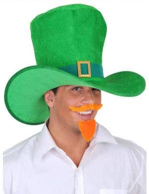 Adult's Oversized Leprechaun Green St Patrick's Day Hat with Buckle Main Image