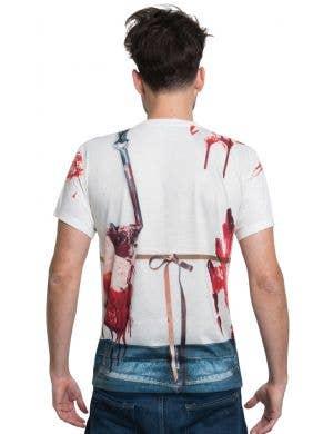 Faux Real Nightmare Butcher Men's Halloween Costume Shirt