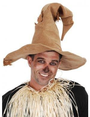 Scarecrow Floppy Brown Costume Hat