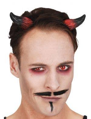 Mini Red and Black Devil Horns on Elastic