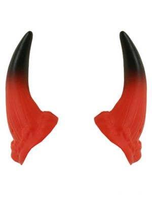 Mini Red and Black Halloween Devil Horns with Elastic Headband