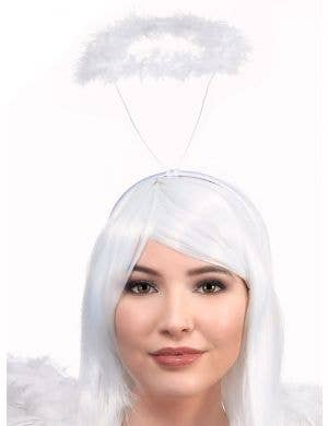 Cheap White Feather Angel Halo