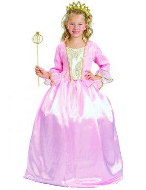 Girl's Pink Princess Costume - Main Image