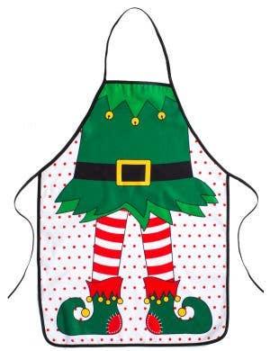 Festive Christmas Elf Costume Apron