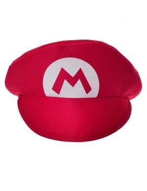 Plush Red Adult's Mario Costume Hat
