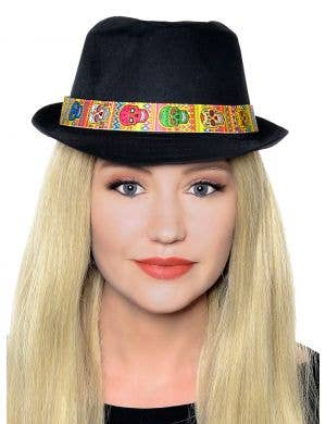 Day of the Dead Unisex Fedora Hat Costume Accessory
