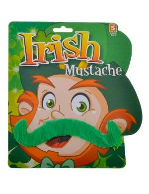 St Patrick's Green Curled Moustache Novelty Accessory