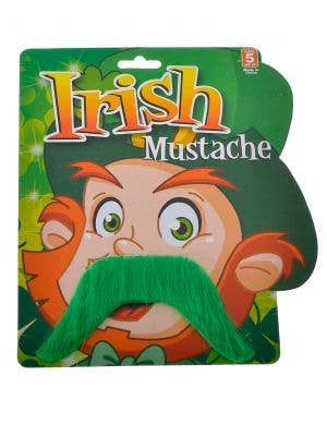 St Patrick's Day Adults Handlebar Green Moustache
