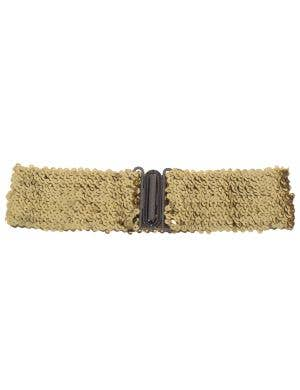 Gold Sequin Stretch Belt Costume Accessory
