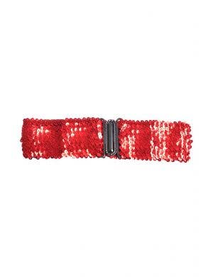 Red Sequin Stretch Belt Costume Accessory