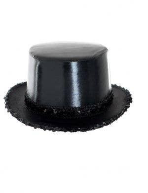 Cabaret Black Wet Look Top Hat with Sequins