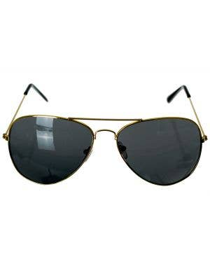 Aviator Gold Frame Costume Accessory Glasses