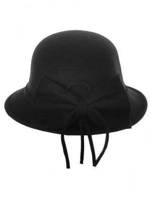 1920's Women's Black Deluxe Cloche Hat Costume Accessory