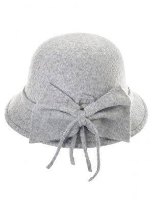 1920's Women's Grey Deluxe Cloche Hat Costume Accessory
