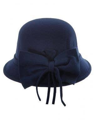 1920's Women's Navy Blue Deluxe Cloche Hat Costume Accessory