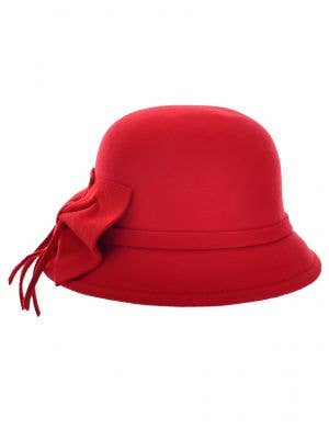 Women's 1920's and 30's Felt Costume Cloche Hat - Front View