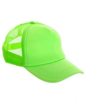Neon Green Novelty 1980s Costume Cap