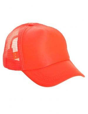 Neon Orange Novelty 1980s Costume Cap