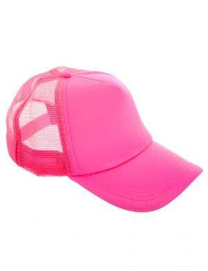 Neon Pink Novelty 1980s Costume Cap