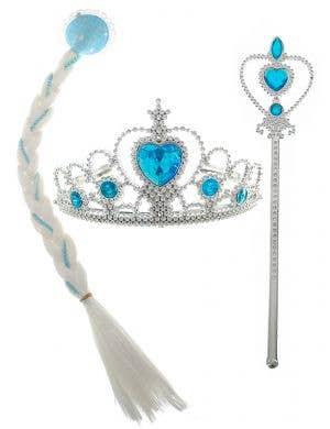 Queen Elsa 3 Piece Girls' Costume Accessory Set