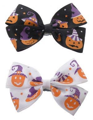 Pack of Two Halloween Pumpkin Hair Clips Costume Accessory