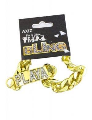 Gangsta Playa Gold Bracelet Costume Accessory Jewellery