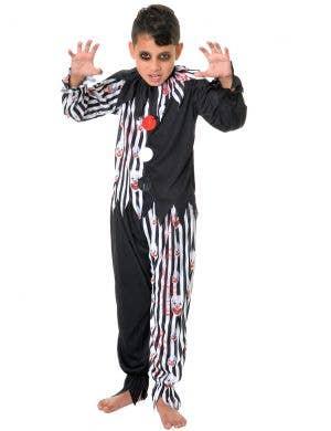 Blood Splattered Creepy Clown Boys Halloween Costume