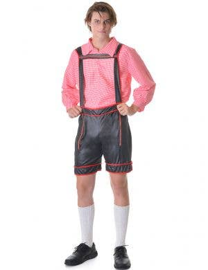 mens oktoberfest beer man red fancy dress costume - main image