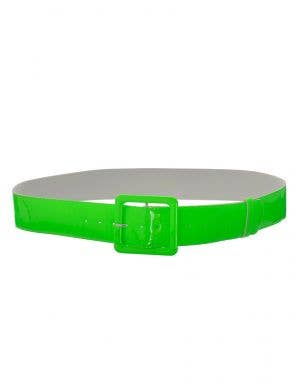 Neon Green Shiny 80s Costume Belt