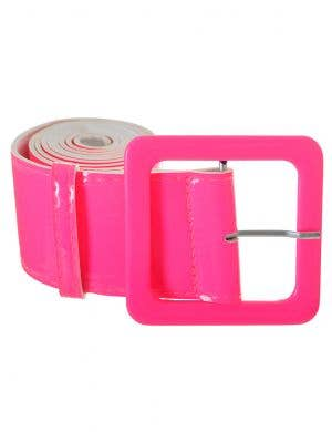 Wide Neon Pink 1980's Belt Costume Accessory
