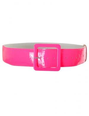 Neon Pink Wide 1980s Belt Costume Accessory Main Image