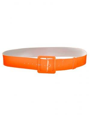 Neon Orange Shiny 80s Costume Belt