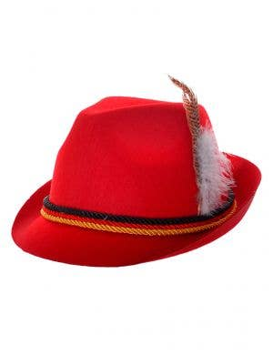 Red Bavarian Oktoberfest Costume Hat