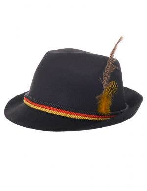 Black Bavarian Oktoberfest Costume Hat