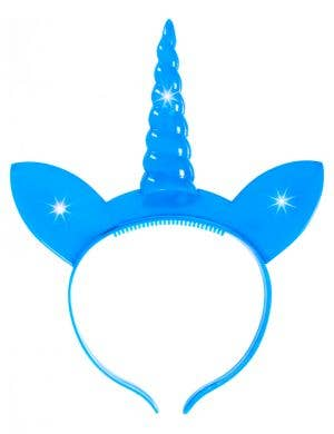 Blue Flashing Light Up Unicorn Horn